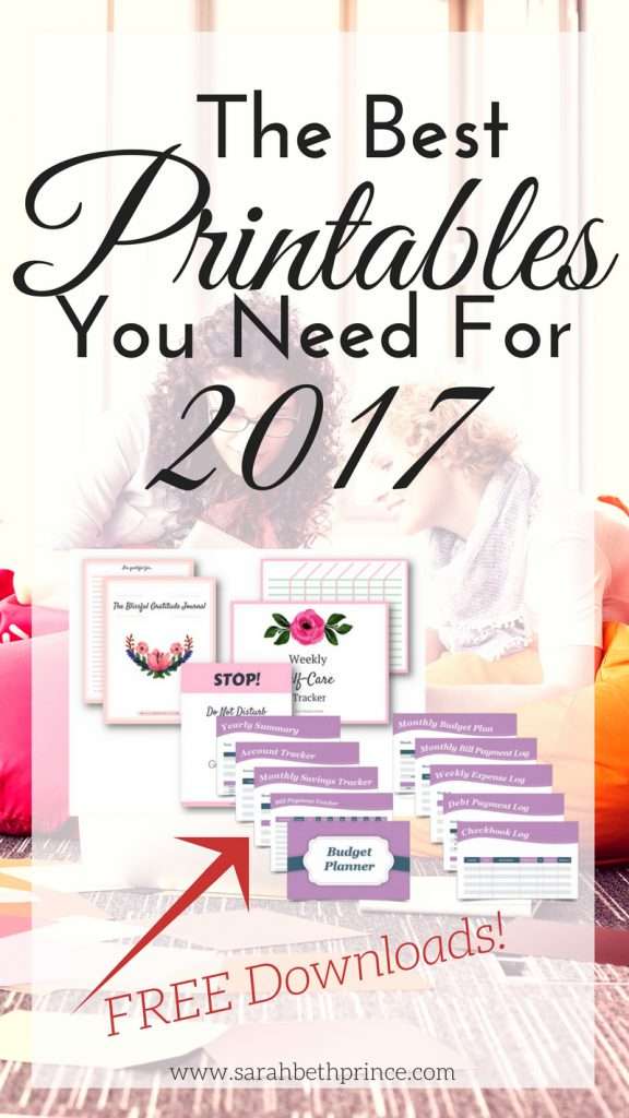 The Best Printables You Need For 2017