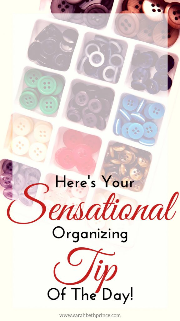 Here's Your Sensational Organizing Tip Of The Day!