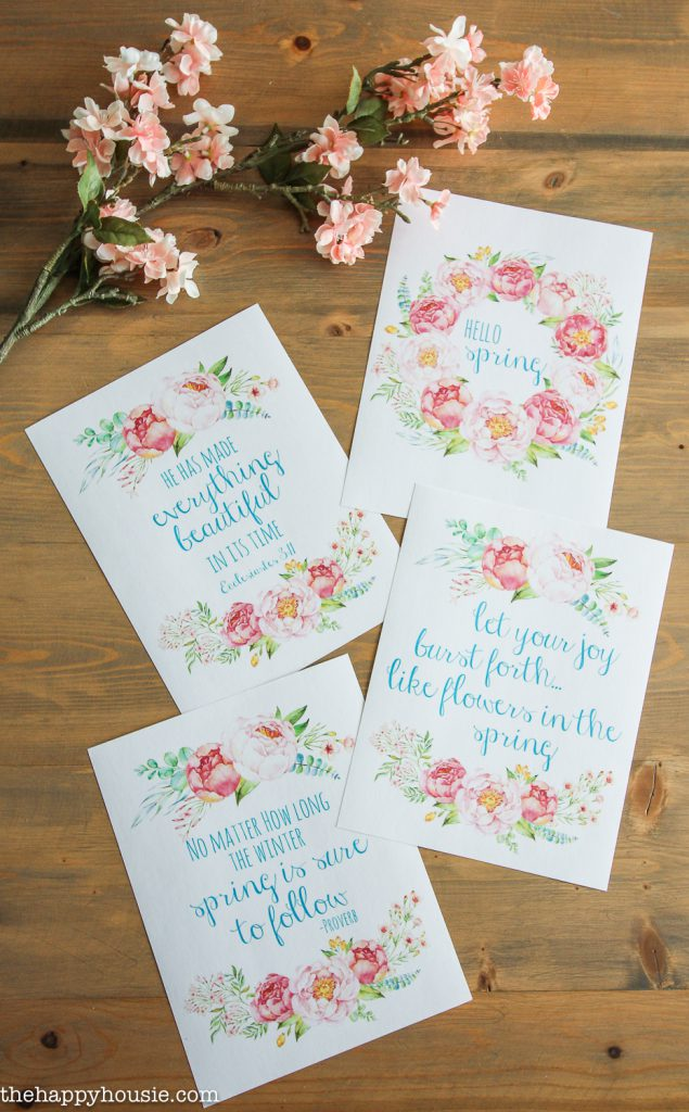 Spring Printable Peony Quotes