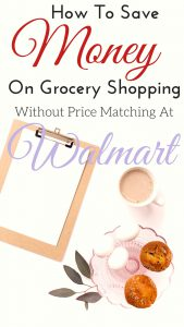 How To Save Money On Grocery Shopping Without Price Matching At Walmart | Grocery shopping, planning meals, and saving money doesn't have to be complicated, even without coupons! I use this awesome service to save MORE than shopping at Walmart without price matching there.