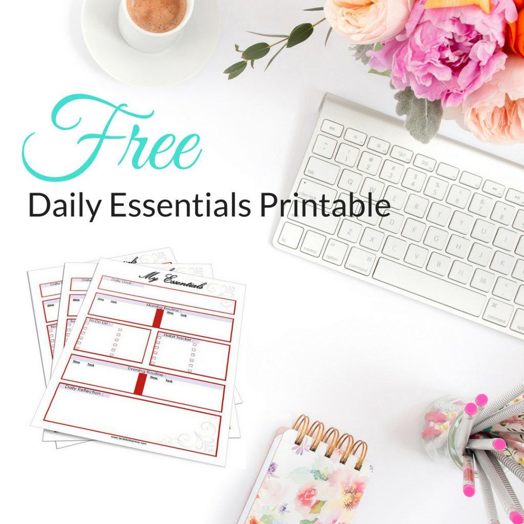 Daily Essentials Printable